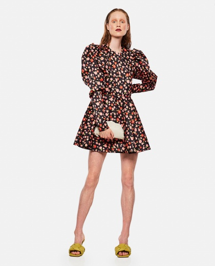 Pauline dress in printed polyester Women Rotate Birger Christensen 000263260038921 2