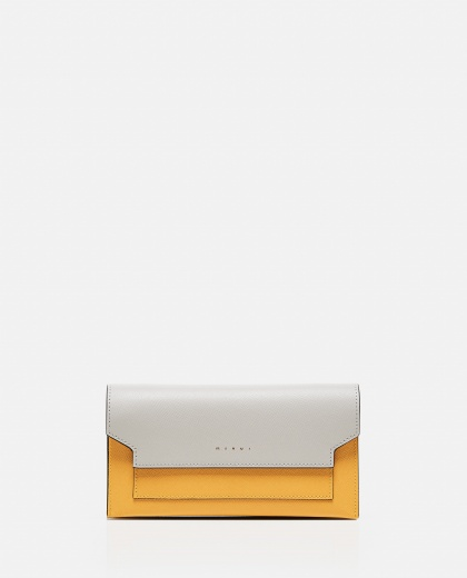 Trunk leather wallet with shoulder strap Women Marni 000289790042681 1