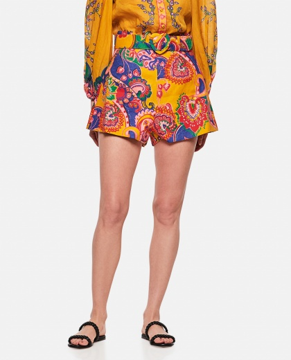 The Lovestruck paisley shorts Women Zimmermann 000290890042830 1