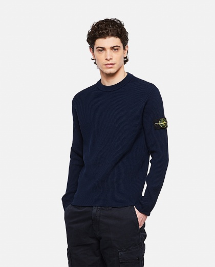 Sweater with logo patch Uomo Stone Island 000292760043118 1