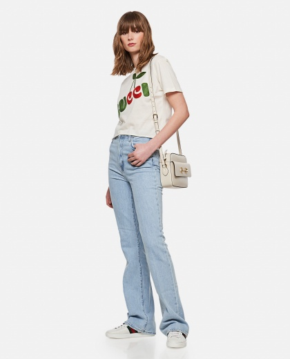 Cotton T-shirt with Gucci cherry print Women Gucci 000287190042345 2
