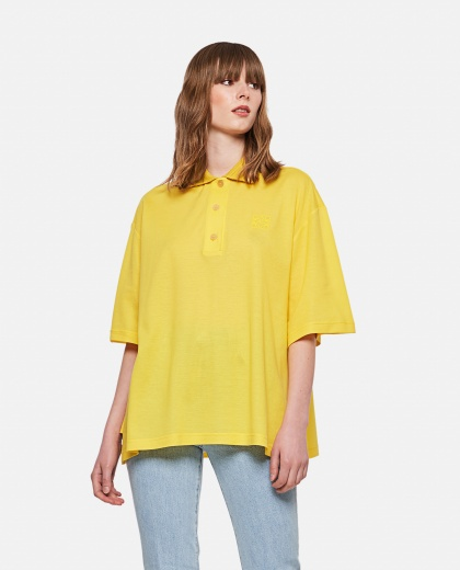 Cashmere and cotton Oversized Anagram polo shirt  Women Loewe 000306990044997 1