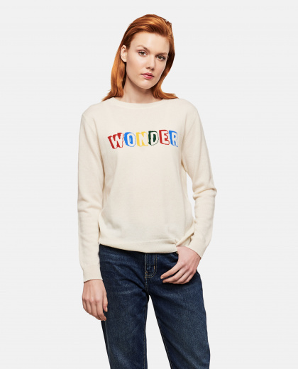 Slogan Long-Sleeve Sweater