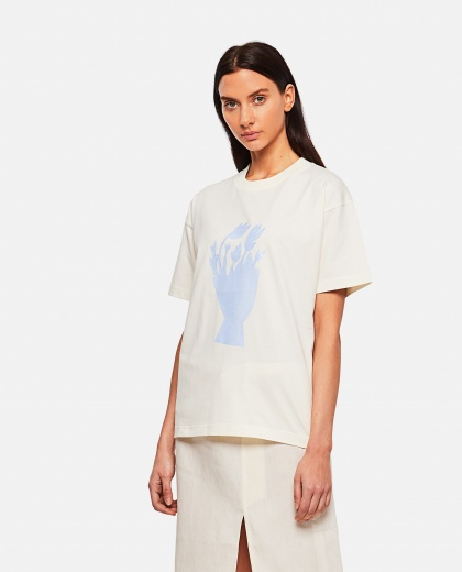 Cotton T-shirt with print Women Jacquemus 000302330044401 1