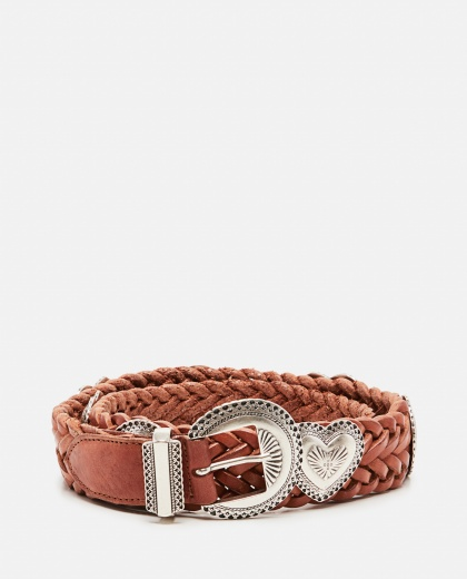 Hearts belt in woven leather with heart studs Women Golden Goose 000286380042261 1