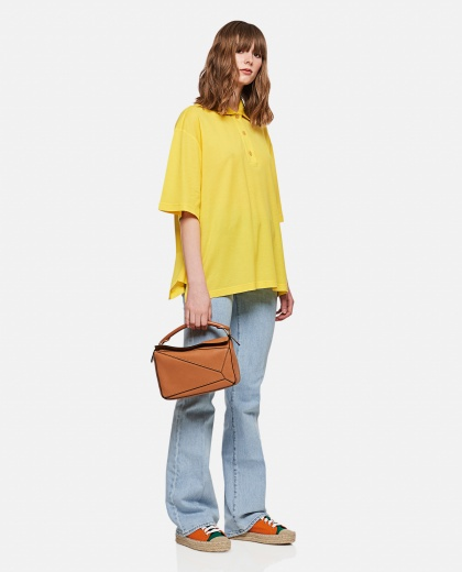 Cashmere and cotton Oversized Anagram polo shirt  Women Loewe 000306990044997 2