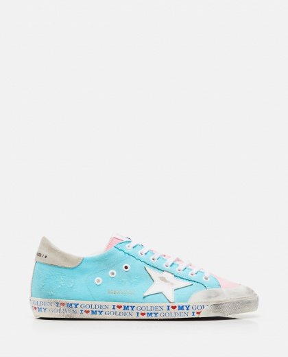 Sneakers Superstar in canvas multicolor Uomo Golden Goose 000292420043048 1