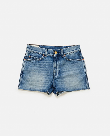 Denim Shorts With Patches Women Gucci 000141950021411 2