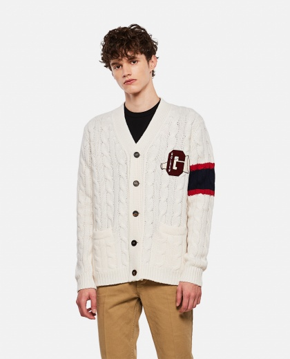 Cardigan with logo patch Men Golden Goose 000269500039716 1