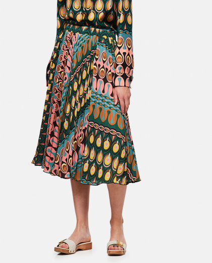 Pleated Midi Skirt Georgette Soleil Women La DoubleJ 000268440039588 1