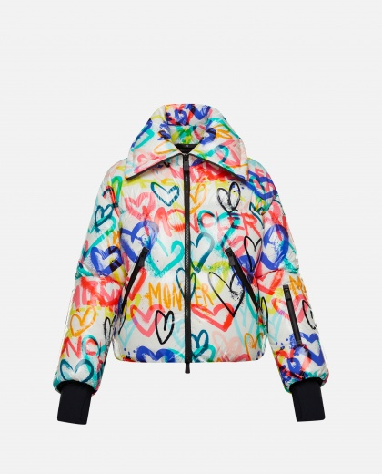 Moncler Genius Grenoble heart patterned down jacket Women Moncler Genius 000272910040211 1