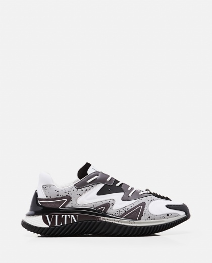 Valentino Garavani Climbers sneaker in fabric and calfskin Men Valentino 000294960043387 1
