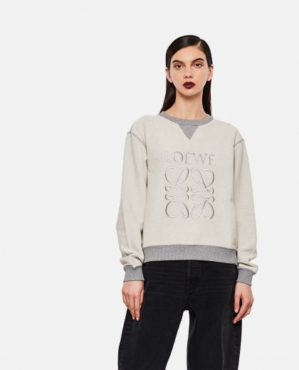 Sweatshirt with embroidered logo Women Loewe 000289240042583 1