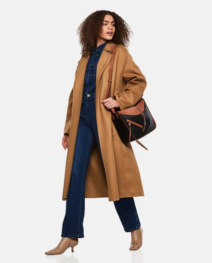 Wool and cashmere Double layer coat with belt  Women Loewe 000258520038198 2