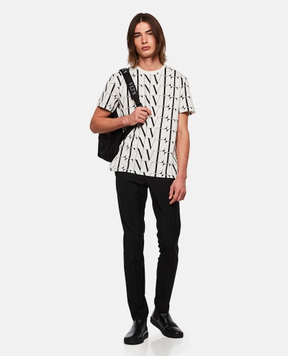 VLTN pattern T-shirt Men Valentino 000263980039009 2