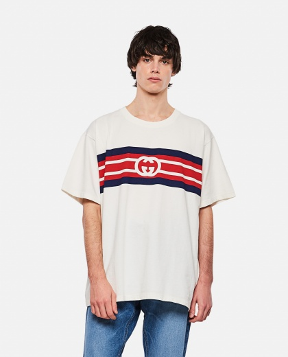 T-shirt with GG striped print Men Gucci 000292930043149 1