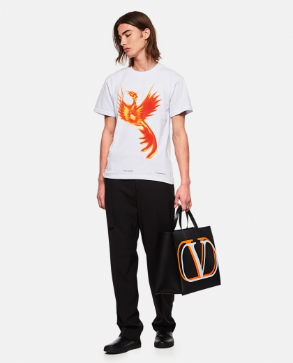 Phoenix print T-shirt Men United Standard 000278740041089 2