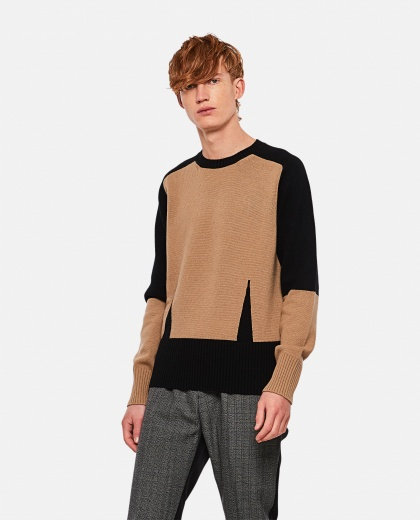 Color block knitted sweater Men Alexander McQueen 000268830039635 1