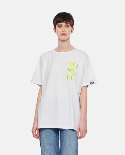 Aira T-shirt with fluo print on the front Women Golden Goose 000286520042275 1