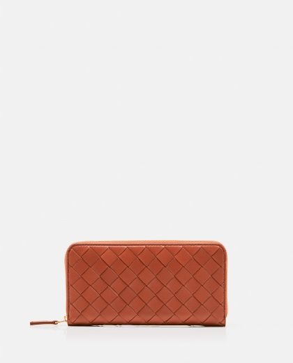 Braided leather wallet
