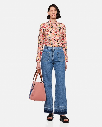Bootleg jeans with raw hem Women J.W. Anderson 000288170042461 2