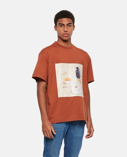 Tableau printed cotton T-shirt Men Jacquemus 000293850043255 1