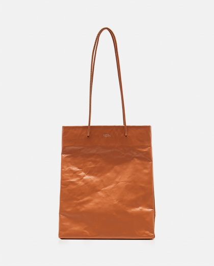 Tote bag with wrinkled effect Women Medea 000262590038853 1