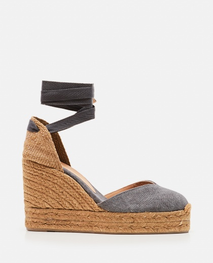 Chiara  canvas espadrille with wedge of 11cm  Women Castaner 000286080042217 1