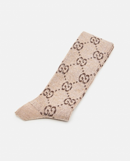 Socks with G in lamé