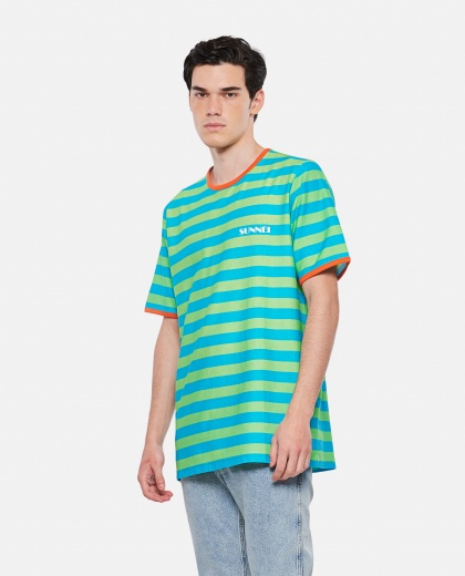 SUNNEI X BIFFI striped cotton t-shirt Men Sunnei x Biffi 000300300044144 1