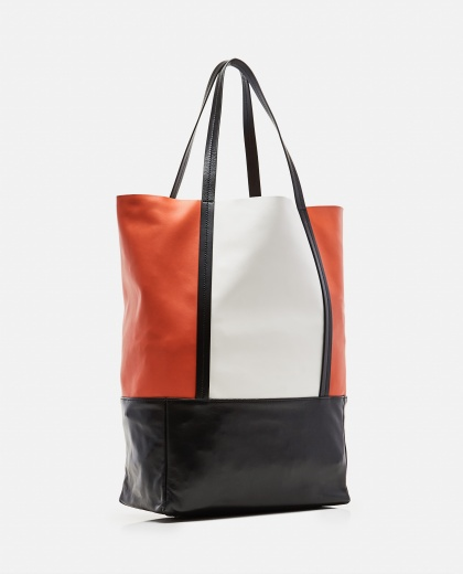 Color-Blocked Lambskin Tote Bag Women Plan C 000263440038948 2