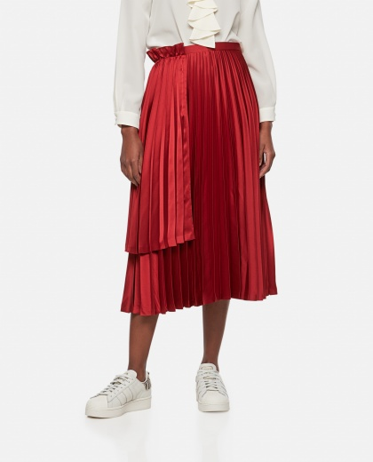 Pleated midi skirt Women Noir Kei Ninomiya 000275270040560 1