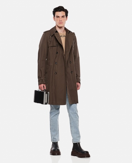 Cotton trench coat Men Alexander McQueen 000291040042847 2