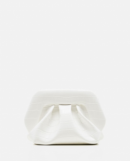 White eco-leather clutch