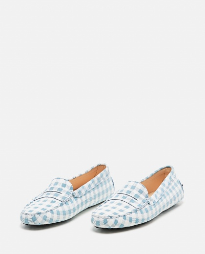 Leather Gommino loafer with checks print Women Tod's 000310690045557 2