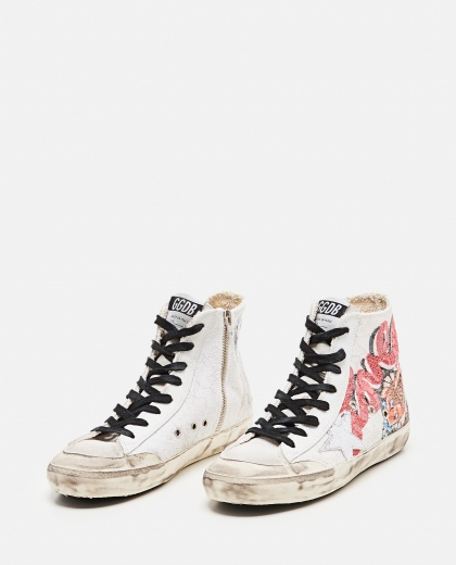 Francy Lace sneakers with Japanese Crackle` Star print Women Golden Goose 000286860042310 2