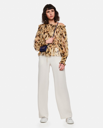 Blouse with flounced neck Women Redemption 000232120034247 2