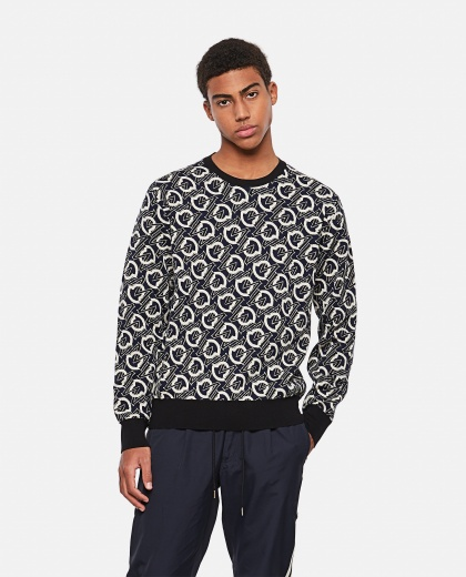 Monogram tricot sweater Men Moncler 000308620045271 1