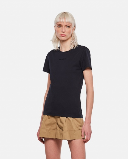 Cotton jersey T-shirt with logo Women Moncler 000308870046133 1