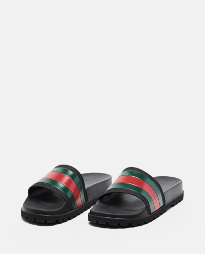 Men's rubber sandal with Web Men Gucci 000293570043227 2
