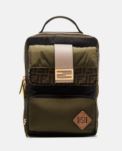Green nylon backpack Men Fendi 000266920039392 1