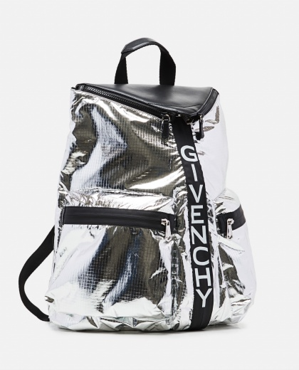 Silver metallic nylon Specter backpack  Men Givenchy 000301580044295 2