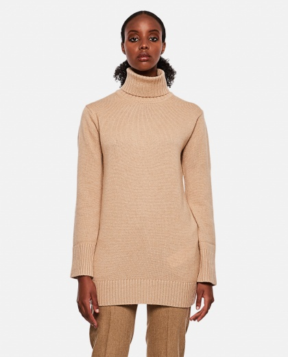 Turtleneck in wool and cashmere Women Max Mara 000262390038823 1