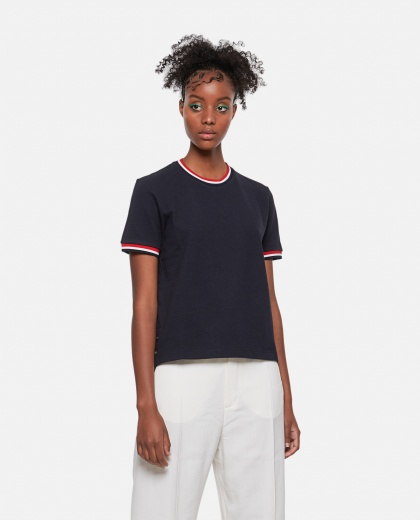 T-shirt with striped detail Women Thom Browne 000274840040464 1