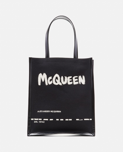 Black shopper bag Men Alexander McQueen 000266530039332 1