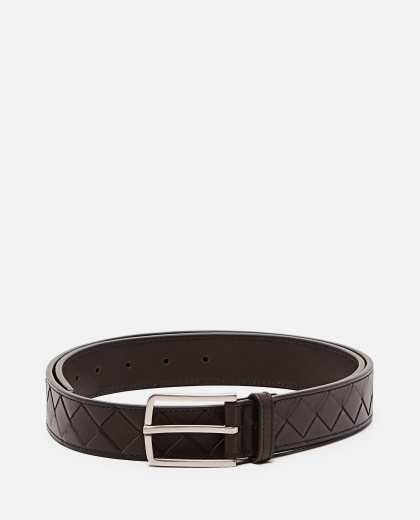 Intrecciato leather belt Men Bottega Veneta 000291570042941 1