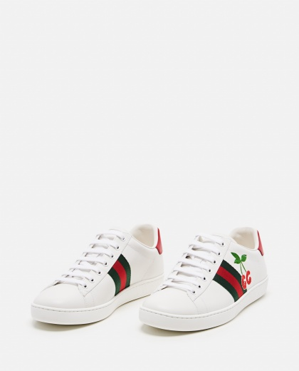 Ace sneaker with cherries Women Gucci 000287420042372 2