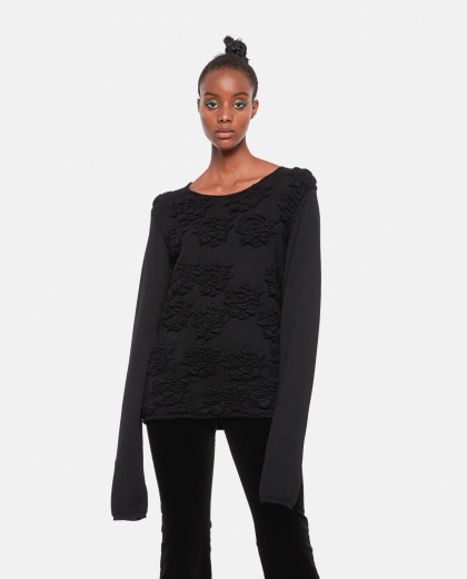 Knitted wool sweater Women Comme des Garcons 000275590040603 1