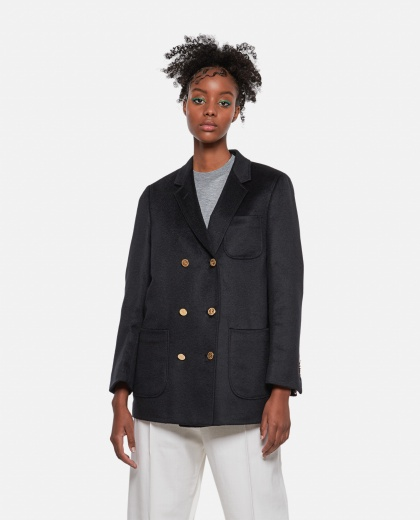 Double-breasted cashmere jacket Women Thom Browne 000274780040456 1