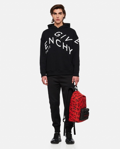 Refracted sweatshirt with embroidery Men Givenchy 000253110037400 2